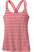 Patagonia W'scCross Back Tank Vista Stripe: Shock Pink